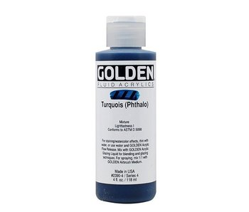 GOLDEN 4OZ FLUID TURQUOISE PHTHALO SERIES 4