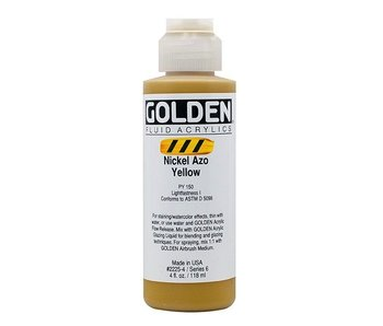 GOLDEN 4OZ FLUID NICKEL AZO YELLOW SERIES 6