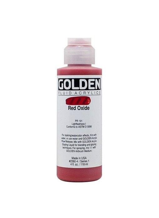 GOLDEN 4OZ FLUID RED OXIDE SERIES 1