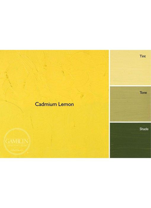 GAMBLIN ARTIST'S OIL COLORS 37ML CADMIUM LEMON