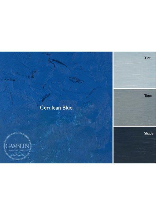 GAMBLIN ARTIST'S OIL COLORS 37ML CERULEAN BLUE