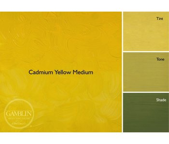 GAMBLIN GAMBLIN ARTIST'S OIL COLORS 37ML CADMIUM YELLOW MEDIUM