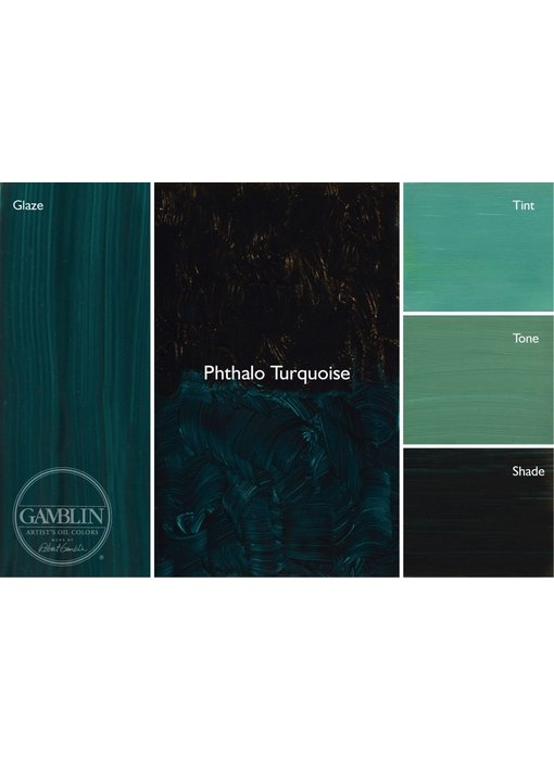 GAMBLIN ARTIST'S OIL COLORS 37ML PHTHALO TURQUOISE