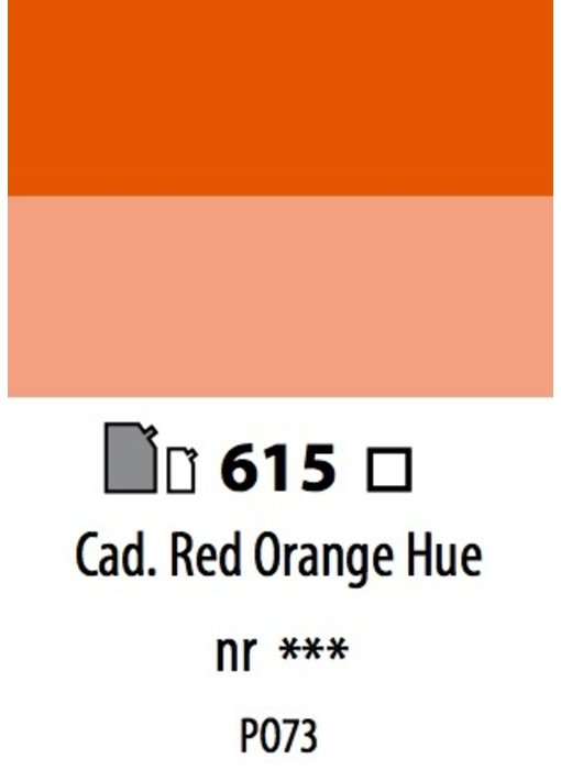 ABSTRACT ACRYLIC 120ML BAG CADMIUM RED ORANGE HUE