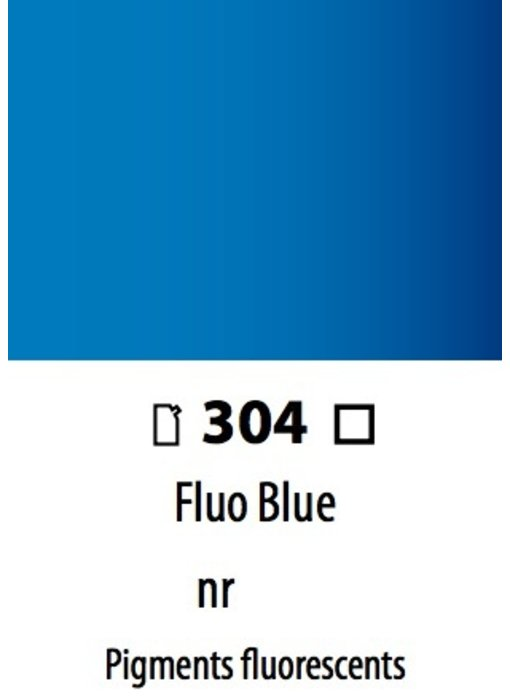 ABSTRACT ACRYLIC 120ML BAG FLUORESCENT BLUE