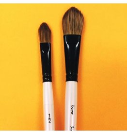ART SS WC BRUSH OVAL WASH BROWN 1/2