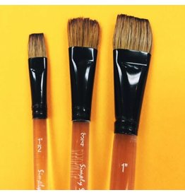 ART SS WC BRUSH FLAT WASH 1/2