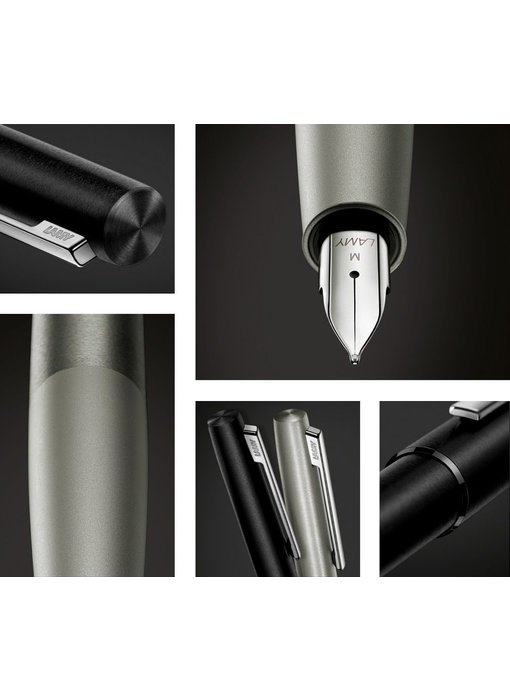 LAMY FOUNTAIN PEN AION OLIVESILVER STEEL MEDIUM