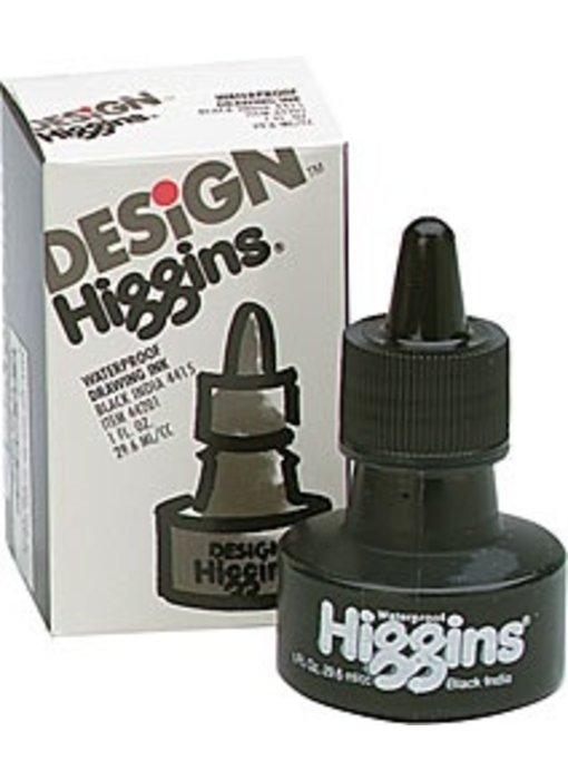 HIGGINS BLACK INDIA INK 1OZ