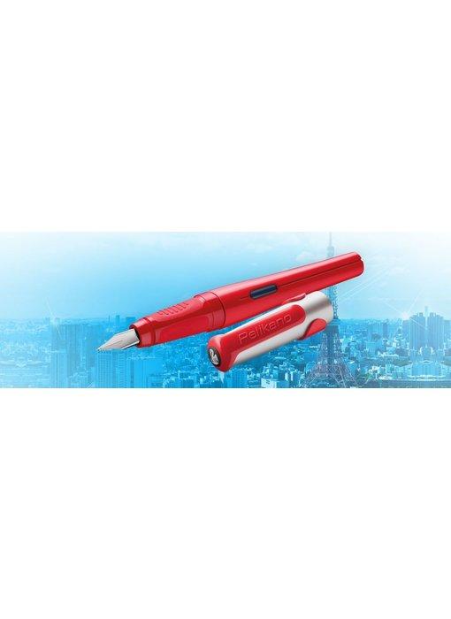 PELIKAN P481L PELIKANO SCHOOL FOUNTAIN PEN RED M