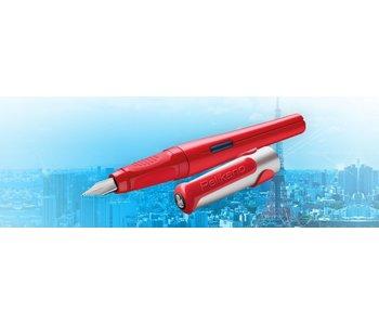 PELIKAN PELIKAN P481L PELIKANO SCHOOL FOUNTAIN PEN RED L