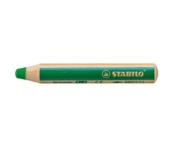 STABILO STABILO WOODY 3 IN 1 PENCIL 533 DARK GREEN