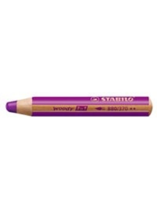 STABILO WOODY 3 IN 1 PENCIL 370 LILAC