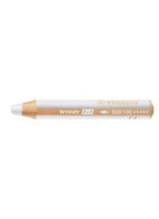 STABILO WOODY 3 IN 1 PENCIL 100 WHITE