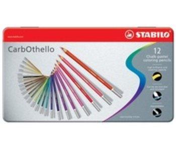 STABILO STABILO CARBOTHELLO CHALK PASTELS 12PK SET