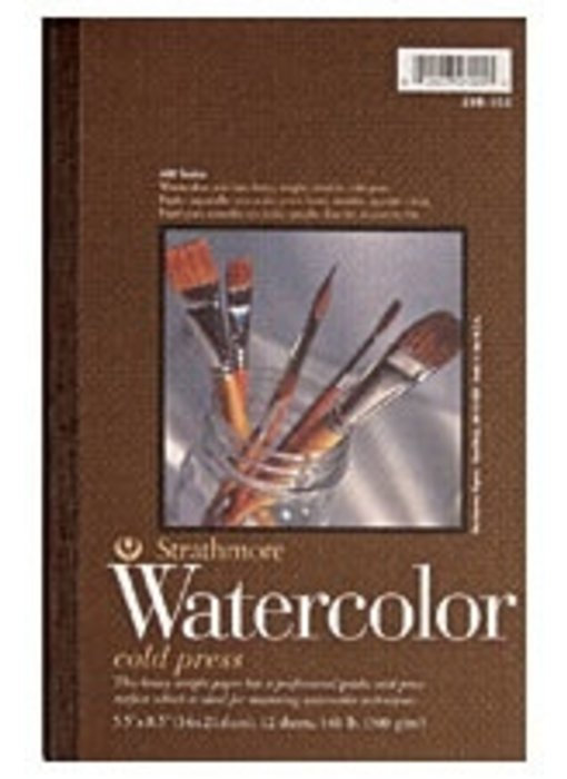 STRATHMORE WATERCOLOR PAD CP 5.5x8.5 12 SHEETS