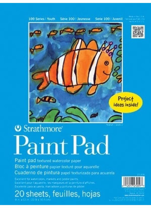 STRATHMORE KIDS PAINT PAD 9x12 25 SHEETS