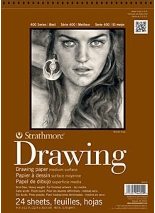 STRATHMORE DRAWING PAD 8x10 24 SHEETS