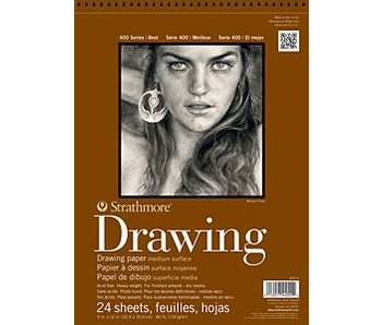 STRATHMORE DRAWING PAD 9x12 24 SHEETS