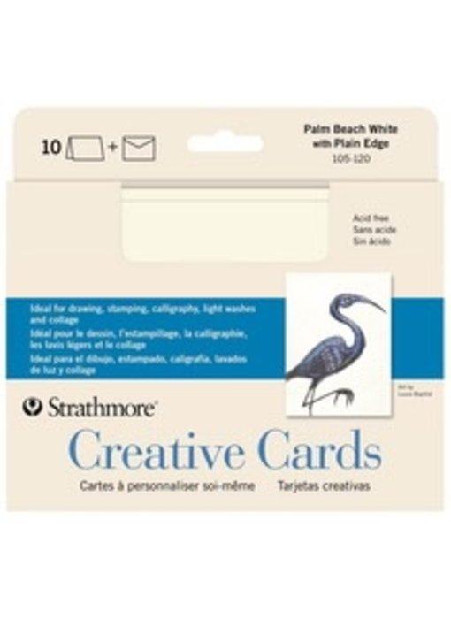 STRATHMORE CREATIVE CARDS PALM BEACH WHITE 10PK
