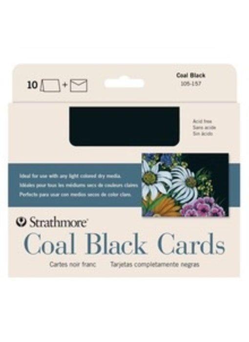 STRATHMORE COAL BLACK CARDS 10PK