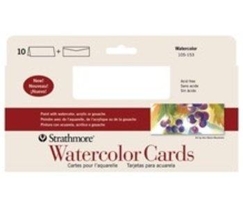 STRATHMORE WATERCOLOR CARDS SLIM 10PK
