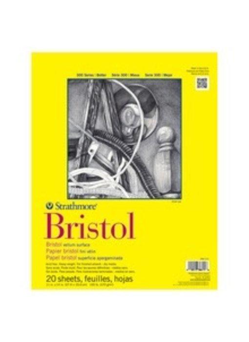 STRATHMORE BRISTOL VELLUM PAD 11x14 20 SHEETS
