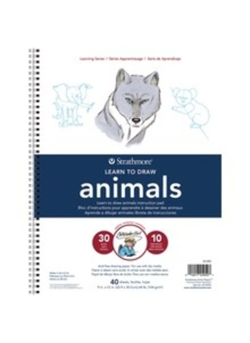 STRATHMORE LEARN TO DRAW ANIMALS PAD 9x12