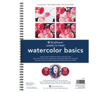 STRATHMORE LEARN TO PAINT WATERCOLOR BASICS PAD 9x12
