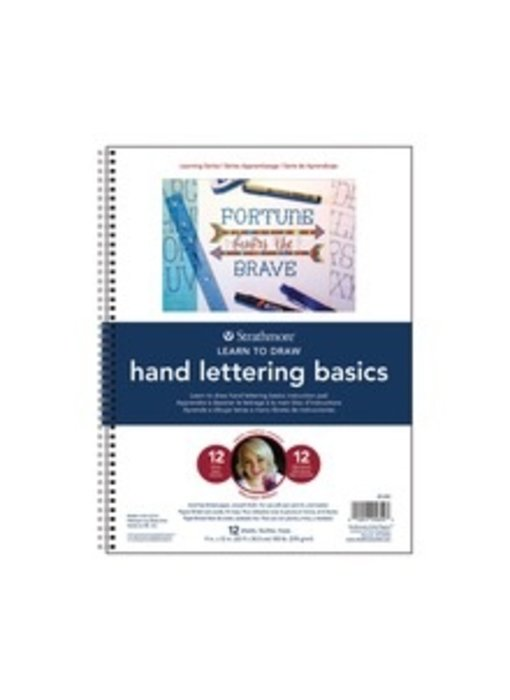 STRATHMORE LEARN TO DRAW HAND LETTERING BASICS PAD 9x12