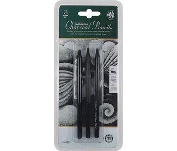 PENTALIC WOODLESS CHARCOAL PENCILS 3PK