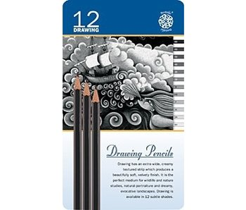 PENTALIC DRAWING PENCILS 12PK