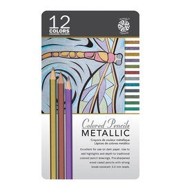 ART Metallic Coloured Pencils 12 pack