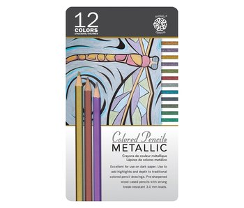 PENTALIC COLORED PENCILS METALLIC SET 12PK