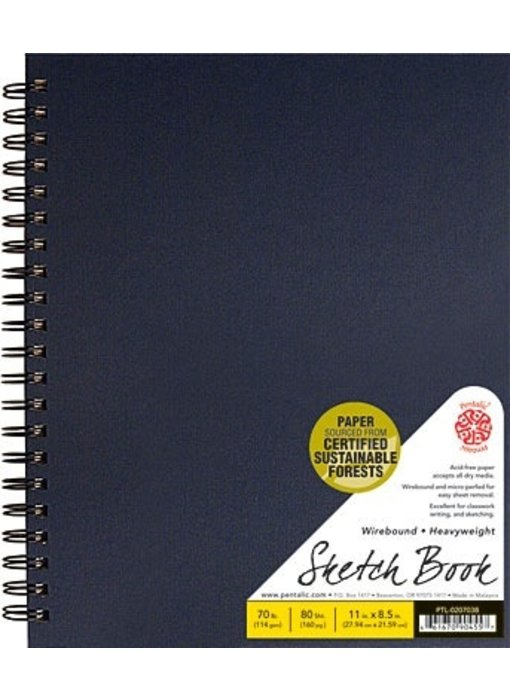 PENTALIC SKETCH BOOK 8.5x11 BLACK