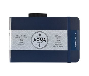 PENTALIC AQUA WATERCOLOUR JOURNAL 3.5x5.5 BLACK