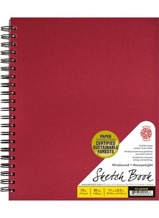 PENTALIC SKETCH BOOK 8.5x11 RED