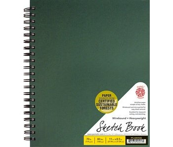 PENTALIC SKETCH BOOK 8.5x11 GREEN