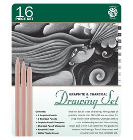 ART Graphite and Charcoal Drawing Set 16 piece set
