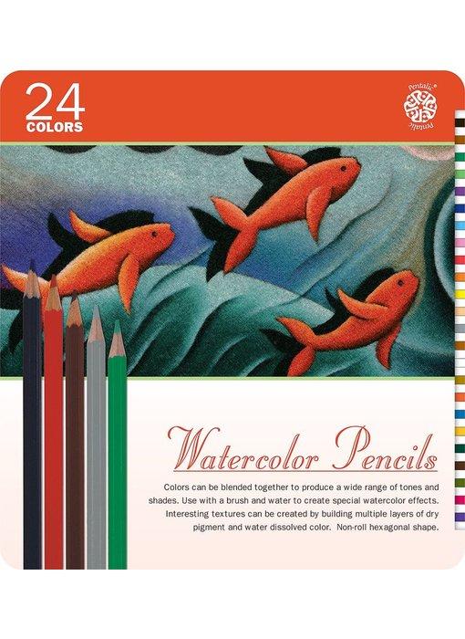PENTALIC WATERCOLOUR PENCILS 24PK