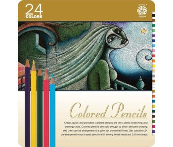 PENTALIC COLORED PENCILS 24PK