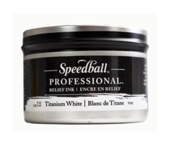 SPEEDBALL SPEEDBALL PROFESSIONAL RELIEF PRINTING INK 8OZ TITANIUM WHITE