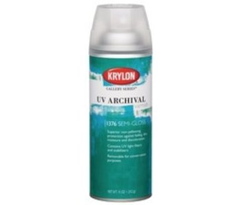 KRYLON UV ARCHIVAL VARNISH SPRAY 11OZ SEMI-GLOSS