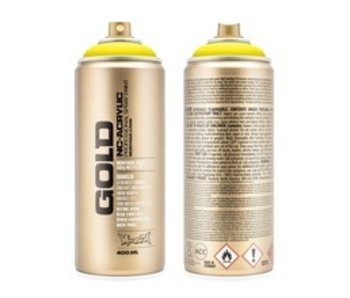 MONTANA MONTANA GOLD SPRAY PAINT 400ML 100% YELLOW