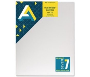 ART ALTERNATIVES ART ALTERNATIVES ECONOMY STRETCHED CANVAS 11x14 7 CANVAS VALUE PACK