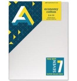 ART Art Alternatives Economy Stretched Cotton Stretched Canvas 9x12 7pk