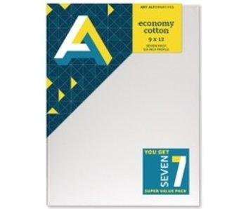 ART ALTERNATIVES ART ALTERNATIVES ECONOMY STRETCHED CANVAS 9x12 7 CANVAS VALUE PACK