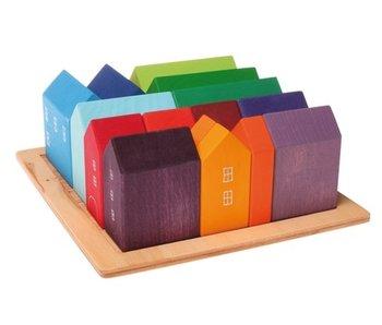 GRIMM'S SPIEL GRIMM'S SPIEL UND HOLZ BUILDING SETS: LARGE HOUSES