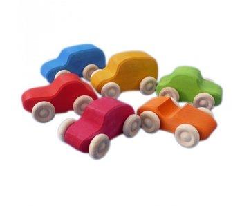 GRIMM'S SPIEL GRIMM'S SPIEL UND HOLZ DESIGN: ASSORTED WOODEN CARS