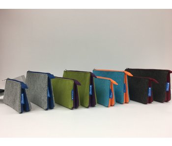 ITOYA PROFOLIO MIDTOWN POUCH 4 X 7 OCEAN/ORANGE